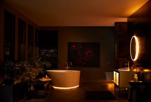 Kohler's New Bathroom Suite Has Automated, Voice-Controlled Lights