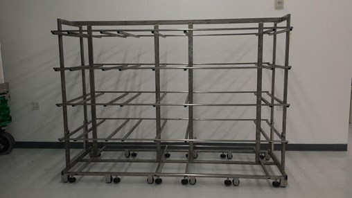 Stainless steel carts can come in many shapes and sizes to fit a variety of needs.