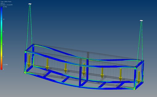 Color coded FEA results make it easy to see if a design passed or failed.
