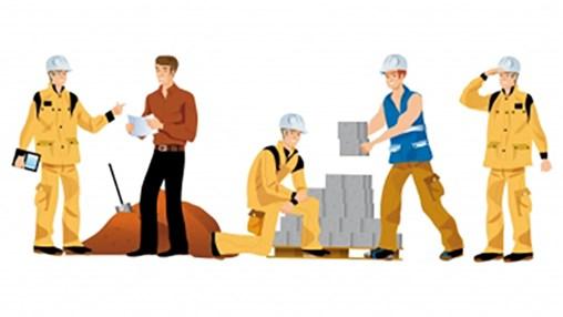 Construction Workers With Bricks Freedigitalphotos