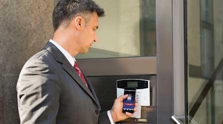 ulocking door with smart phone