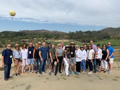 The group enjoying the onPeak safari at the San Diego Zoo