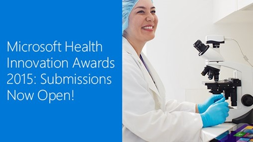 Microsoft Health Innovation Awards 2015: Call for entries