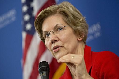 Warren Turns up Rhetoric Against Wall Street in 2020 Bid